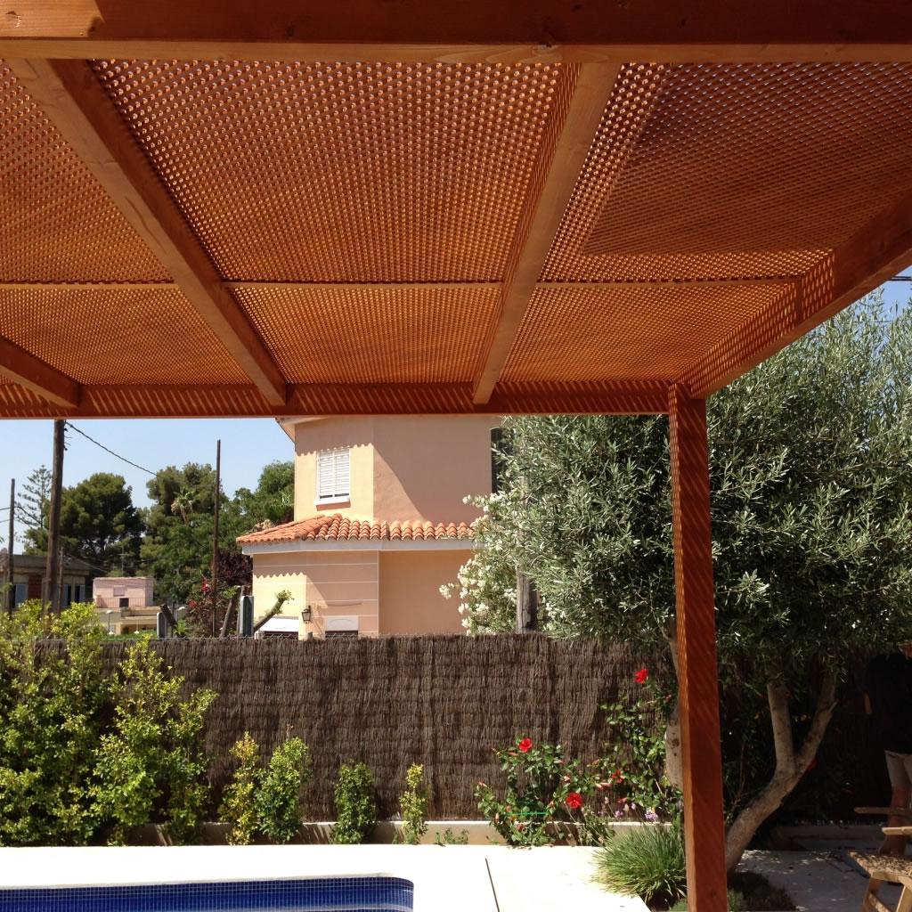 Pergolas de madera porches jard n - Pergolas a medida ...