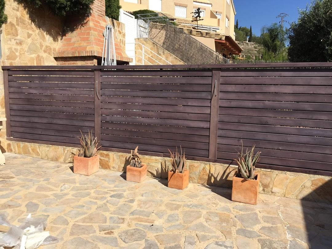 Vallas de madera porches jard n - Valla de madera ...